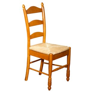 Lark Manor Gennevilliers Ladder Back Solid Wood Dining Chair (Set of 2)