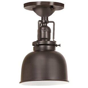 Price comparison Edgar 1-Light Metal Semi Flush Mount By Gracie Oaks