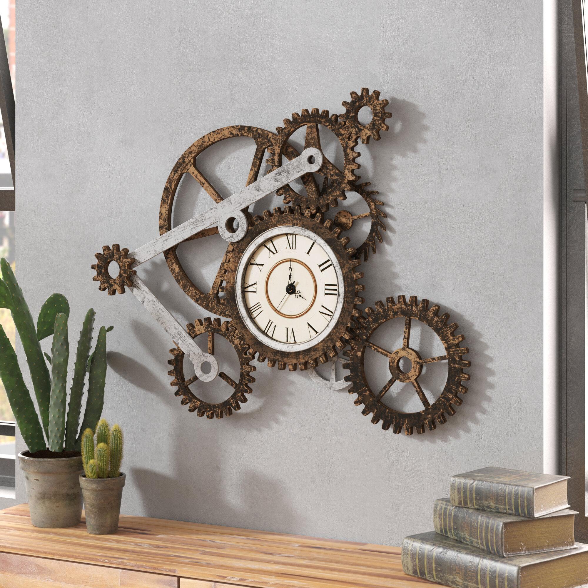 Trent Austin Design Oversized Chellis Wall Clock Reviews Wayfair Ca