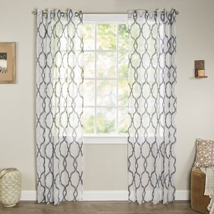 Sheer Embroidered Curtains