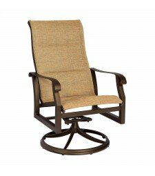 Woodard Cortland Swivel Patio Dining Chair