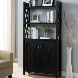 Houlihan X Frame Paneled Etagere Bookcase by Red Barrel Studio