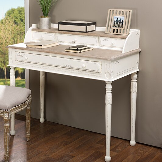 desks white desk with french writing drawers painted louis