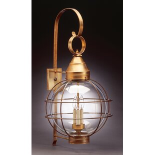 Best Choices Onion 3-Light Outdoor Wall Lantern By Northeast Lantern