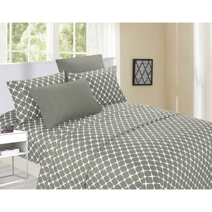 Sankey 1500 Thread Count Geometric 100% Egyptian-Quality Cotton Sheet Set