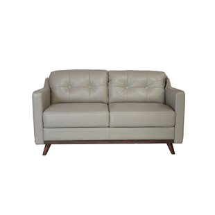 Karlov Leather Loveseat by Brayden Studio Fresh