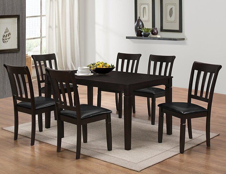 Red Barrel Studio Winnetka 7 Piece Dining Set Reviews Wayfair