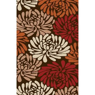 Centeno Chocolate / Terracotta Floral Indoor/Outdoor Area Rug