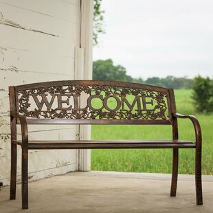 Welcome Steel Garden Bench by Leigh Country Best Choices
