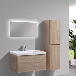 Groton 35 inch  Wall-Mounted Single Bathroom Vanity Set