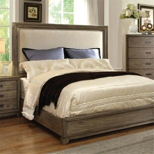 Munson Upholstered Panel Bed by Union Rustic