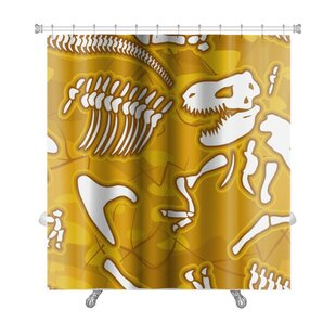 Dinosaurs Dinosaur Bones Premium Single Shower Curtain