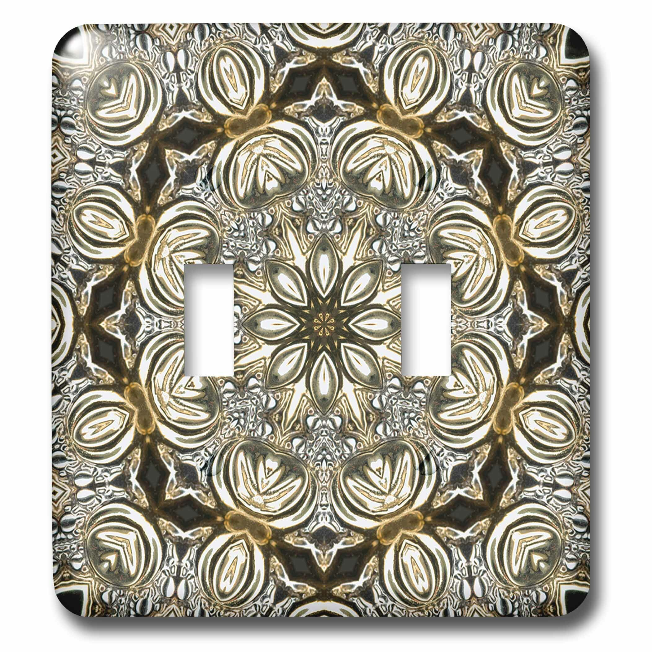 3drose Rich Jewelry Elegant Flower Plate Mandala 2 Gang Toggle Light Switch Wall Plate Reviews Wayfair