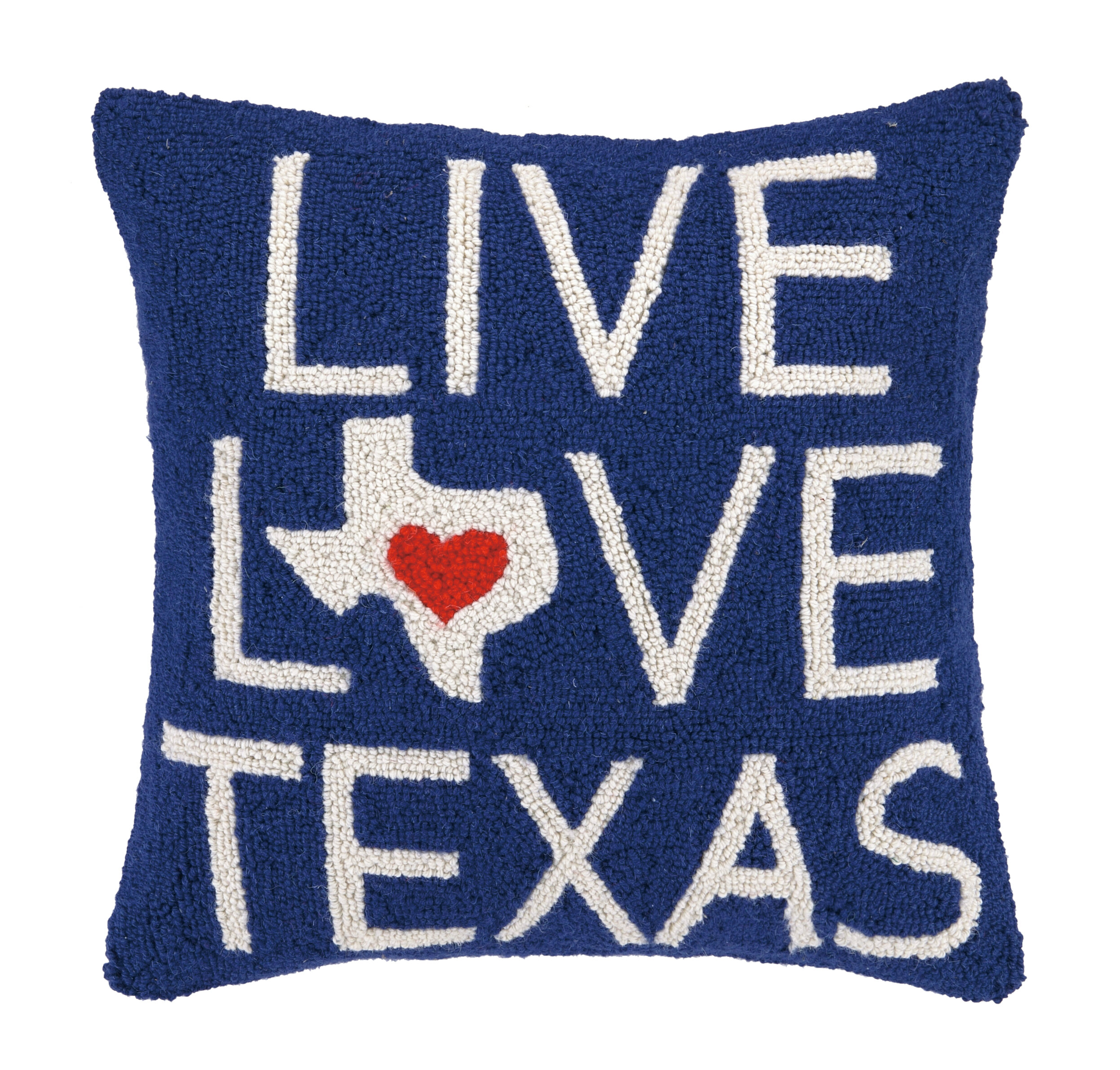 Peking Handicraft Live Love Texas Hook Wool Throw Pillow Wayfair