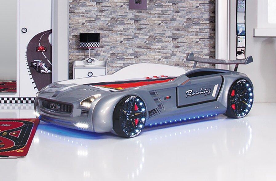 Race Car Bed Part - 27: Roadstar Racing European Twin Car Bed With Foam Mattress