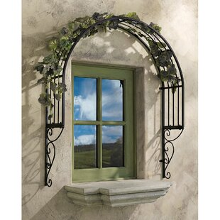 Design Toscano Thornbury Iron Arched Trellis