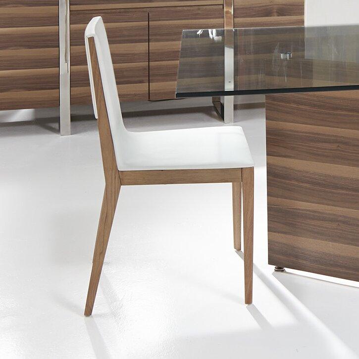 Bellini Modern Living Adeline Upholstered Solid Wood Dining Chair Reviews Wayfair