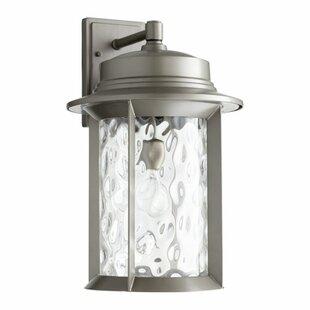 Osmond 1-Light Outdoor Metal Wall Lantern by Three Posts