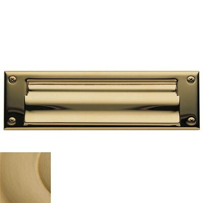 Baldwin 10 in x 3 Brass Mail Slot Color: Vintage Brass