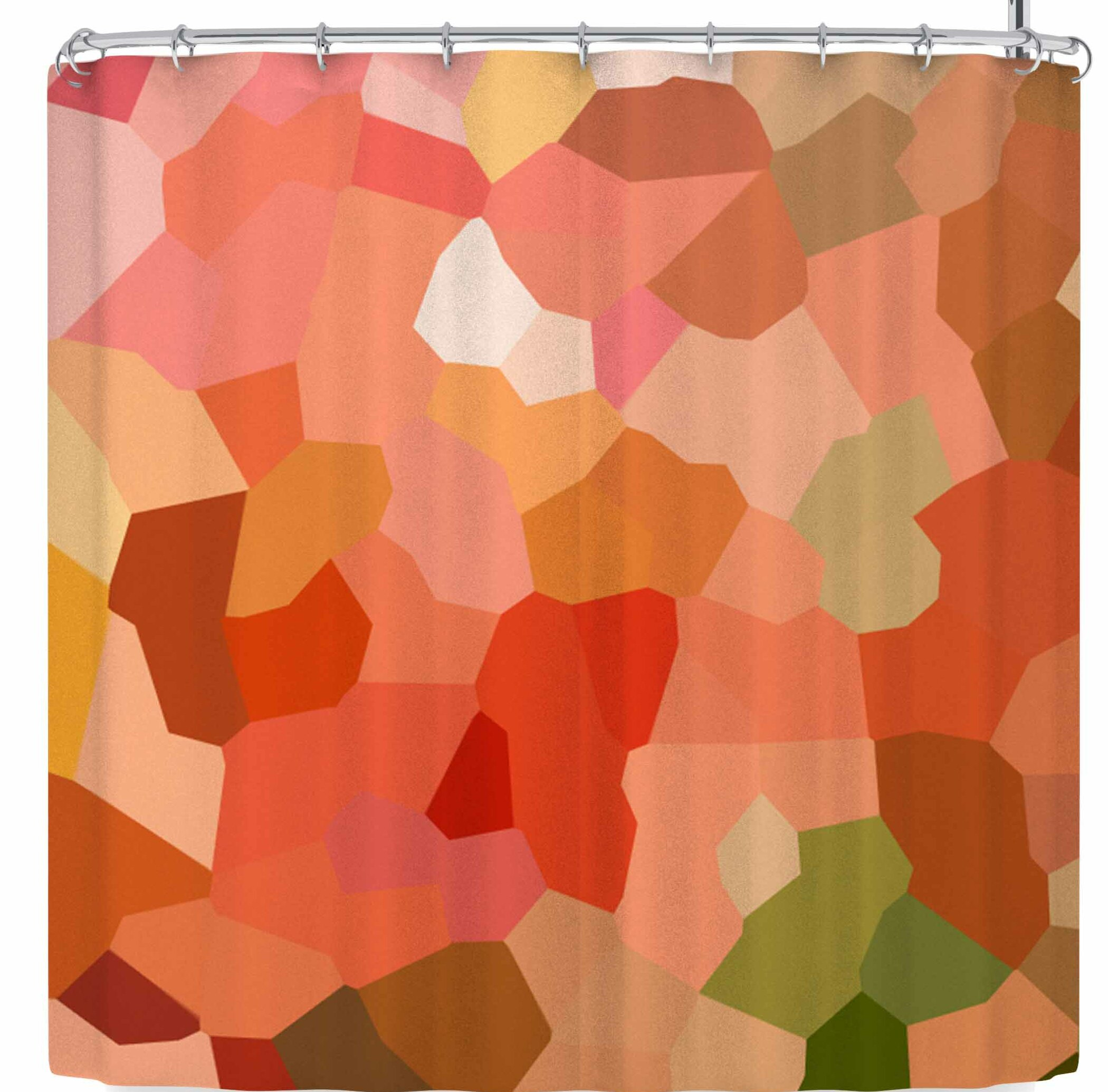 East Urban Home Rosie Brown Tumbled Pebbles Shower Curtain
