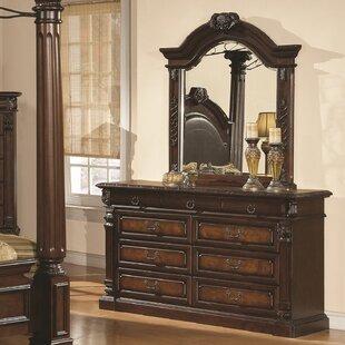 Astoria Grand Payne 9 Drawer Dresser with Mirror