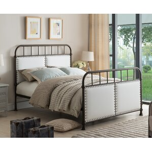 Upholstered Panel Bed by InRoom Designs