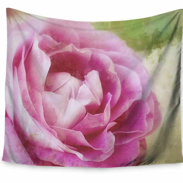 Alyzen Moonshadow Dusky Pink Rose Tapestry And Wall Hanging