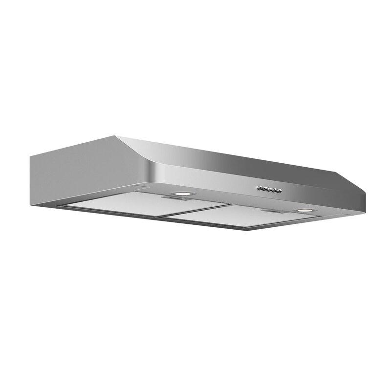 "Ancona 30"" Slim Series 280 CFM Ducted Under Cabinet Range Hood"