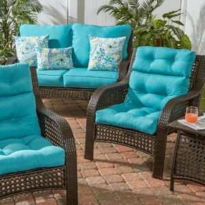Outdoor High Back Chair Cushion Set of 2