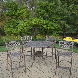 Oakland Living Mississippi 5 Piece Bar Height Dining Set