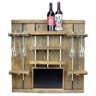August Grove Rico Chalkboard 3 Bottle Wall Mounted Wine Rack