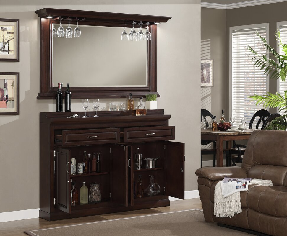 Darby Home Co Rachael Bar Cabinet with Wine Storage & Reviews | Wayfair