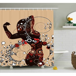 Sarah Modern Contemporary Design Geometric Shapes Lines Circle With Women Image Single Shower Curtain