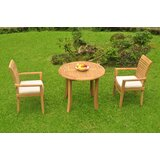 Moshe Luxurious 3 Piece Teak Bistro Set