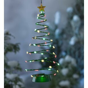 solar hanging christmas tree lighted display - Hanging Lighted Christmas Decorations