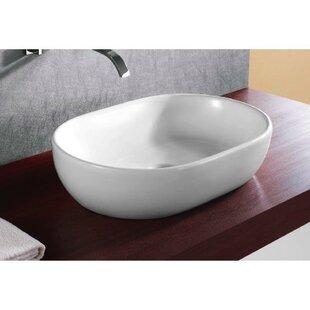 Best Reviews Ceramica Ceramic Oval Vessel Bathroom Sink By Caracalla