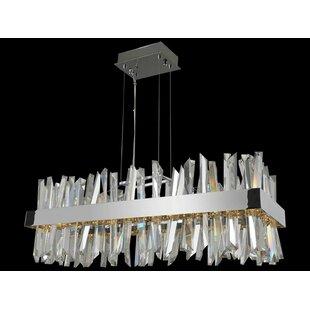 Roark LED Crystal Chandelier by Everly Quinn