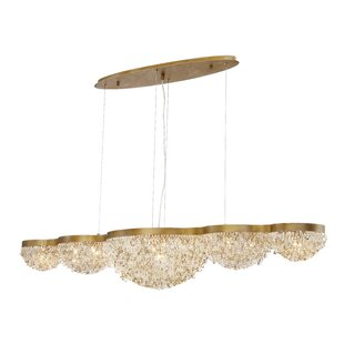 Shirely Clustered 15-Light Crystal Chandelier by Everly Quinn