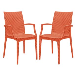 Quade Weave Stacking Patio Dining Chair (Set of 2)