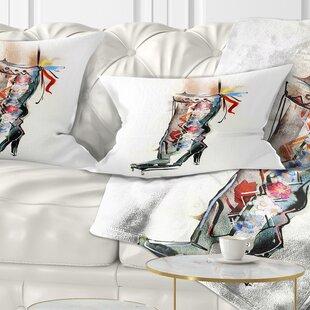 Superieur Abstract Decorative Shoe Lumbar Pillow