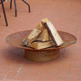 Poar Steel Charcoal/Wood Burning Fire Pit By Sol 72 Outdoor