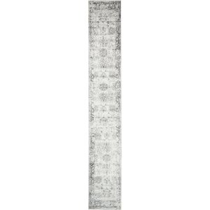 Brandt Machine Woven Gray/White Area Rug