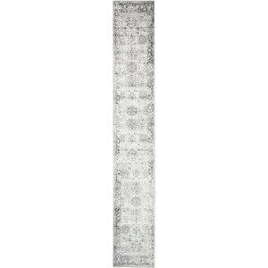 Brandt Machine Woven Gray/White Area Rug