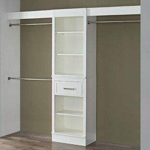 Bargain Parisian White 96W Closet System By Latitude Run