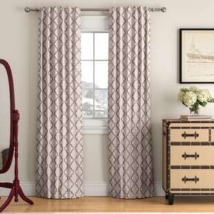 Roth Geometric Blackout Thermal Tab top Single Curtain Panel by Winston Porter