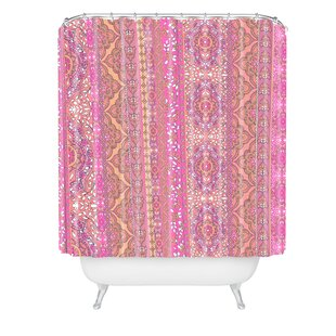 Aimee St Hill Farah Stripe Soft Blush Single Shower Curtain