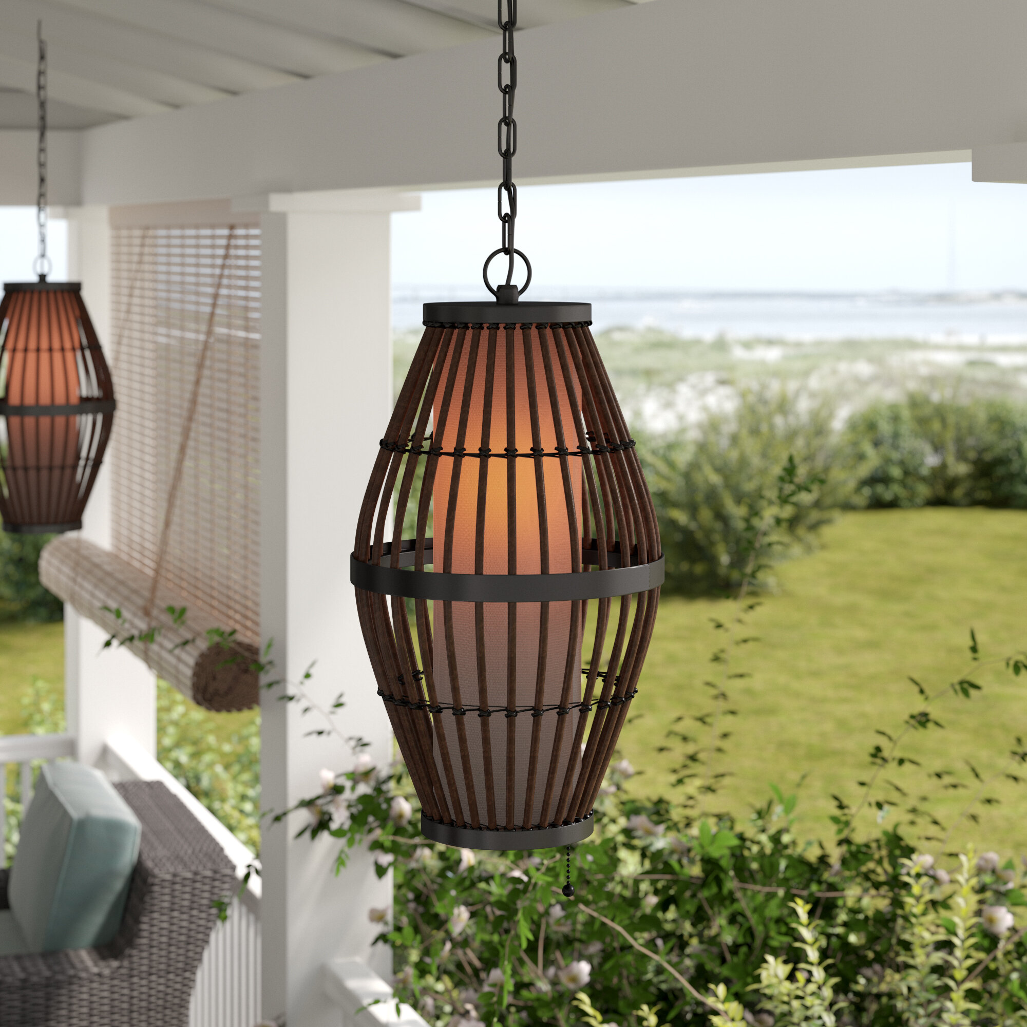 Plug In Outdoor Hanging Lights You Ll Love In 2020 Wayfair