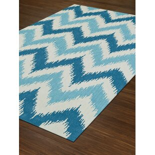 Inexpensive Aloft Aqua/While Area Rug By Dalyn Rug Co.