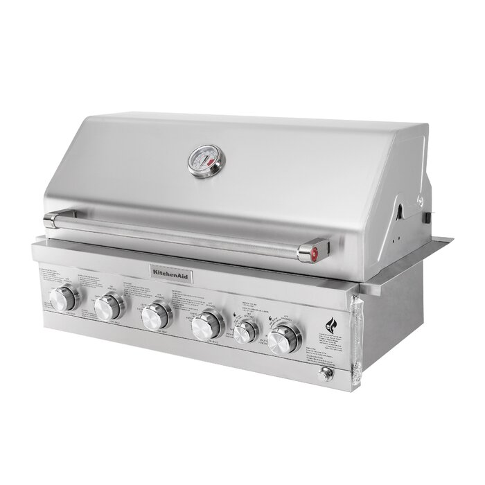 4-Burner Built-In Liquid Propane Gas Grill - 740-0781