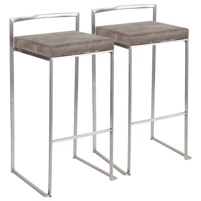 Peachy Wade Logan Gary Bar Counter Stool Color Stainless Steel Seat Cjindustries Chair Design For Home Cjindustriesco